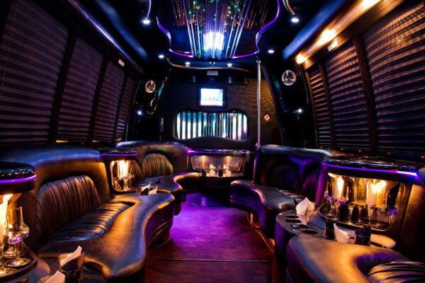 18 people party bus rental Long Beach