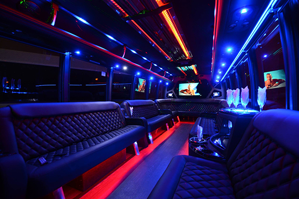 40 passenger party bus rental Long Beach